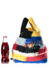 bucket shaped bag in wool and crocheted ribbons - DANIELA GREGIS
