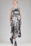 longuette dress in polyester jersey with print of an art work by the Japanese artist Sesson Shukei - COMME DES GARÇONS