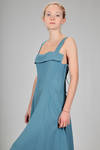 longuette dress in linen and rayon canvas - NOCTURNE #
