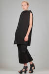 short tunic in textile paper and polyamide and inner base in cotton jersey - RICK OWENS