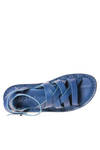 NEPAL sandal in soft woven cowhide leather and classic rounded rubber sole - TRIPPEN