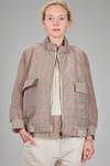 short blouson in crisp polyamide and nylon canvas with glen plaid effect - MIAORAN