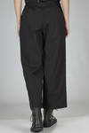 wide trousers in wrinkled cotton canvas - Y'S Yohji Yamamoto