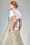 'sculpture' dress, under the knee in linen jacquard with inner multilayered skirt base in polyester tulle - JUNYA WATANABE