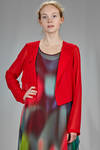 asymmetrical and short jacket in polyester georgette doubled on the body - MARIA CALDERARA