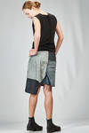 gonna corta e asimmetrica con base in denim stretch di cotone, polibutilenterftalato nero e parti in poliammide - RICK OWENS