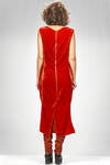 longuette dress in smooth velvet of viscose and silk, lined in cupro on the chest - RICK OWENS