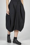 wide calf length divided skirt in wool gabardine lined with a polyester canvas - COMME DES GARÇONS