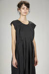 under the knee dress in washed techno polyester fabric with tone on tone leopard print - COMME DES GARÇONS