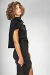 long and slim fitted evening dress in viscose, polyester, polyamide and elastane stretch knit - RICK OWENS