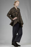 long and whide shirt in washed silk taffetas - DANIELA GREGIS